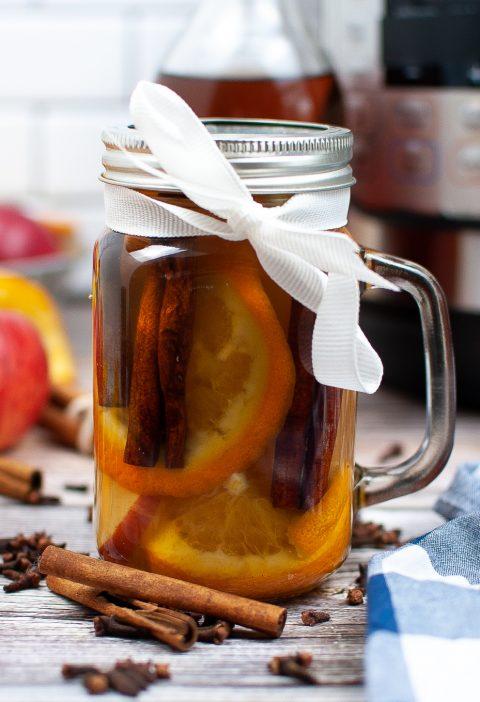 fall potpourri in a jar